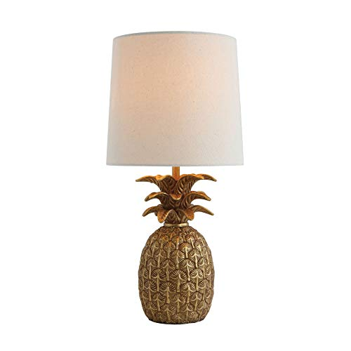 Pineapple Shape Lamp with Linen Shade