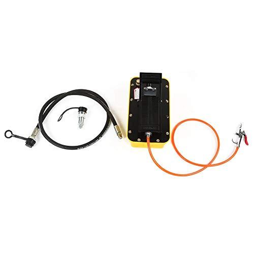 Zouminyy pneumatische hydraulische Pumpe, 2,3 l Air Hydraulische Fußpumpe 3/8 NPT Single Acting Pneumatic mit Schlauch & Kupplung