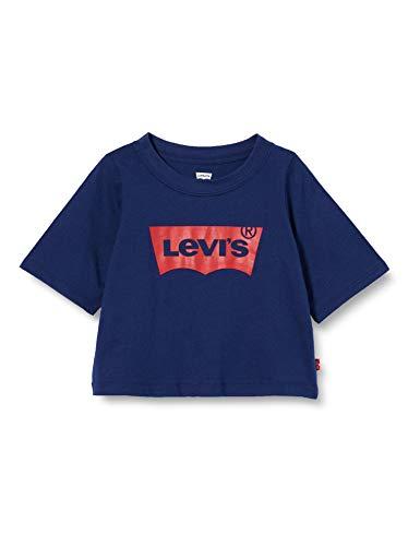 Levi's kids LVG Light Bright Cropped Top Camiseta, Medieval Blue, 4 años para Niños