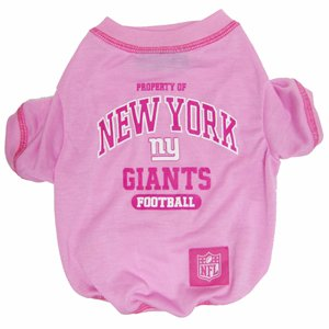 NFL New York Giants Pink Dog T-Shirt, Small. - Football Sports Fan Pet Shirt.
