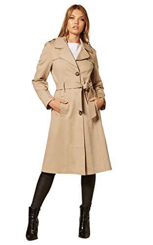 Anastasia De La Creme - Trenchcoat für Damen im Frühling, beige, Größe 50