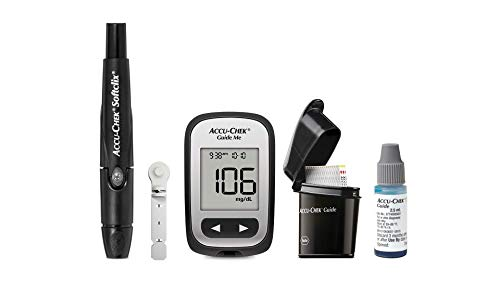 Accu-Chek Diabetes Starter Kit with SoftClix Lancing Device, 100 Count Softclix Lancets, 50 Count Guide Test Strips, GuideMe Meter and Guide Control Solution