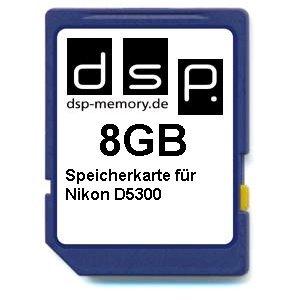 DSP Memory 8GB Speicherkarte für Nikon D5300