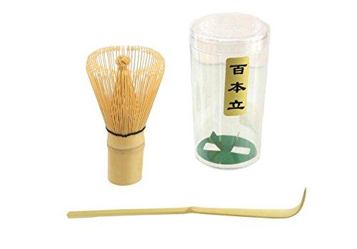 JapanBargain S-3702, Bamboo Matcha Whisk Chasen and Scoop Chashaku for Tea Ceremony