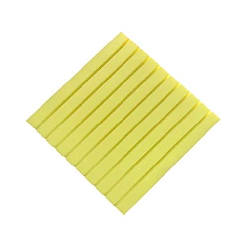 SZQ-akoestische platen bioscoopplaten, 10 stuks, zelfklevend plafond, geluiddempend katoen voor de binnenslaapkamer, akoestisch schuim (kleur: geel)