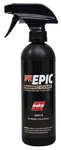Malco Epic Fabric Coat – Advanced Fabric Protection/Cleans and Protects Cloth Seats and Carpets/Prevents Interior Staining of Vehicle Surfaces / 16 oz. (260716)