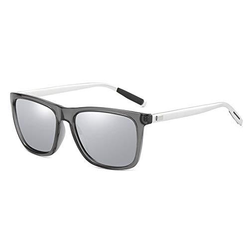 NJJX Gafas De Sol Polarizadas Clásicas Para Hombres Y Mujeres, Gafas Cuadradas Para Conducir, Gafas De Sol, Gafas Retro, Gafas 02