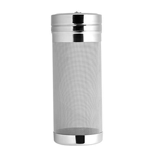Solomi Filtro de Cerveza de Acero Inoxidable - Filtro de Pantalla de 300 micrones para Cerveza de Vino casera de 7 x 18 cm