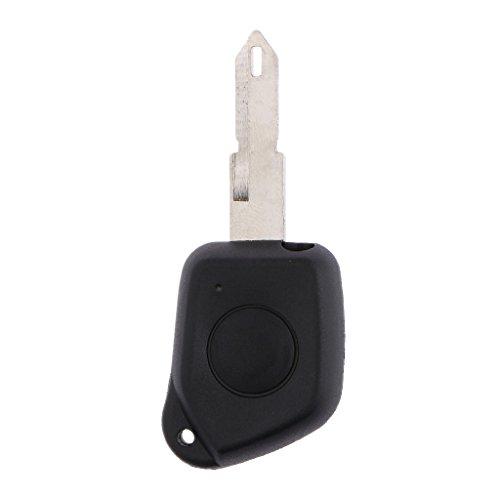 MagiDeal Télécommande 1 Bouton Porte-clefs avec Lame Remplacement pour Peugeot 205 206 306 106 405 406