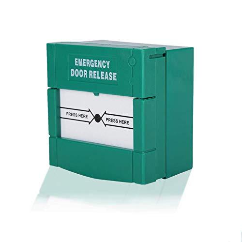 Botón de alarma de emergencia - Alarma de incendio de cristal de la rotura del lanzamiento de la puerta - Alarma de seguridad para seguridad del hogar, Verde