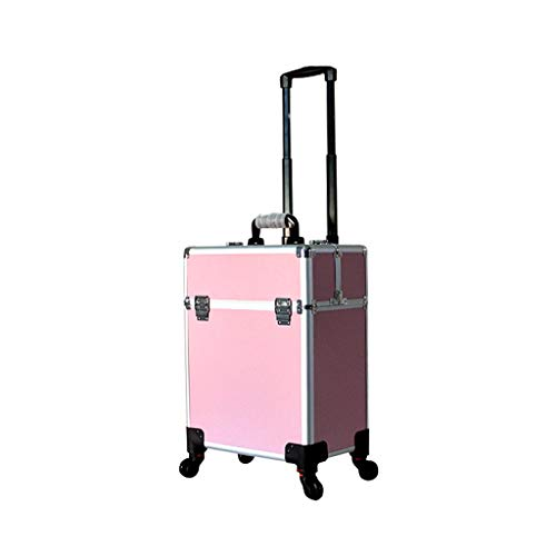 Trousse de maquillage, trousse de maquillage de voyage, pli portable Profession Maquilleur de voyage (Couleur : Black+silver)