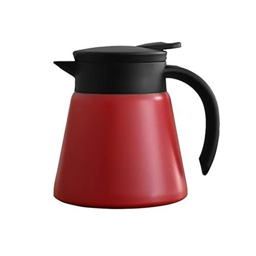 Jingshi SYUCHENG 880ml Acero Inoxidable Doble Pared vacío vacío Aislado cafetera Termo Leche té Agua Jarra Kettle Botella de Agua Tetera (Color : Red)