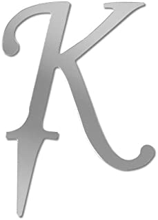 Darice VL3K Mirror Acrylic Initial Letter Cake Topper with Stake, Alphabet K, 3-Inch