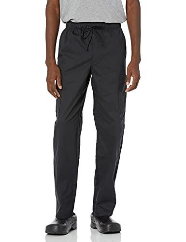Amazon Essentials Men's Quick-Dry Stretch Scrub Pant, Black, Small