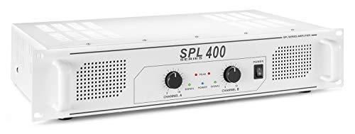 Skytec SPL 400W Casa Cablato Bianco amplificatore audio