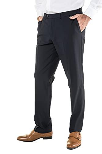 JP 1880 Herren große Größen Menswear L-8XL Business-Hose, Flatfront Hose Zeus, Schnurwoll-Qualität, Knitterfrei, Pflegeleicht Navy 30 705531 70-30