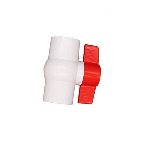 MDD 20/25 / 32mm / 40mm Connettore Valvola in PVC con Tubo, Valvole A Sfera per Tubi dell'Acqua Valvole A Sfera dell'Acqua Agricoltura Agricoltura Garden Irrigation Raccordi (Size : Diameter 20mm)