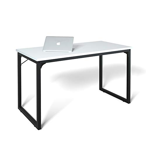 Computer Desk 39', Modern Simple Style Desk for Home Office, Sturdy Writing Desk, Coleshome, White