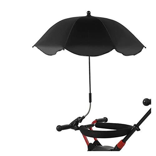 YXIUER Paraguas Universal Lindo bebé PRAM UMBRALLA Sombra sombrilla sombrilla para Cochecito, camioneta (Color : Black)