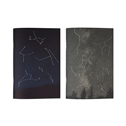 ALFABET, Set 2 Quaderni Constellations, 100% Carta Riciclata, Notes, Spillato, Punto Metallico, Appunti, Green, Plastic Free, Taccuino, Bullet Journal, Calligrafia, Disegni, Eco friendly