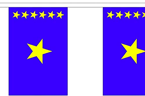 FlagSuperstore© Wimpelkette mit Kongo-Kinshasa-Motiv, Afrika, 9 m, Polyester, 30 Flaggen pro 9 m Länge