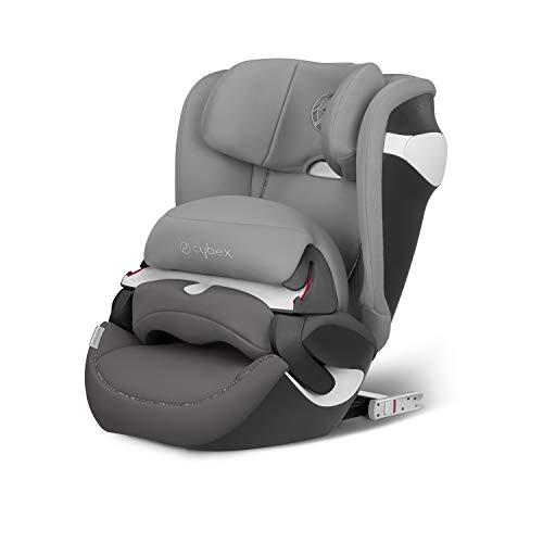 CYBEX Gold Kinder-Autositz Juno M-Fix, Für Autos mit und ohne ISOFIX, Autositz Gruppe 1 (9-18 kg), Manhattan Grey