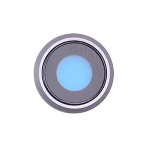 DXPSLGrvd La Nueva Parte Posterior de la cámara Trasera Lente de Cristal Cubierta Anillo iPhone for X 7 8 Plus con Piezas de Repuesto Soporte del Bastidor (Color : Silver, Size : 8)