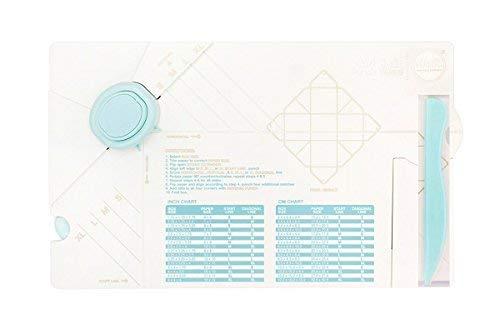 Rayher 58594000 Gift Box Punch Board von We R Memory Keepers, 27 x 32 x 4,5 cm Falz-und Stanzwerkzeug zum Herstellen von Geschenkboxen in verschiedenen Größen