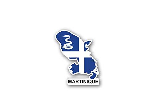 Akachafactory Sticker auto vlag kaart land provincie regio Frankrijk martinique