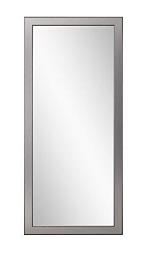 BrandtWorks BM12floor Mod Euro Floor Mirror, 71 x 32, Brushed Silver