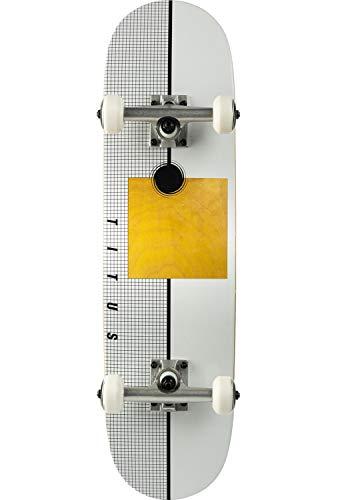 TITUS Skateboard Geo Premium Mini : White / 7.5, Kinder, Anfänger, Skateboard, Mädchen und Junge, Holzboard aus 7 Schichten Ahornholz, bereits fertig montiert, Komplett Board