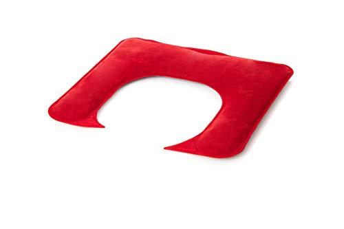Moor Gel Warmtekussen, nekkussen, nekkussen, schouderkussen, warmte-compress, warmtekussen, gelkussen om goed te voelen - geschikt voor de magnetron met rood velours