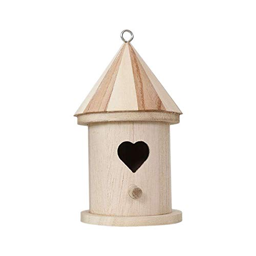 XJF Mini DIY Holzvogelhäuser Vogelhaus zum Dekorieren von Kunsthandwerk für Kinder Erwachsene