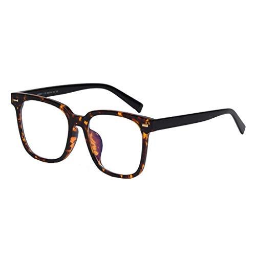 IOSHAPO Klassieke Blu-ray Flat-spiegel Computerbril Vierkant Fashion Frame-bril Extra grote bril voor dames/heren