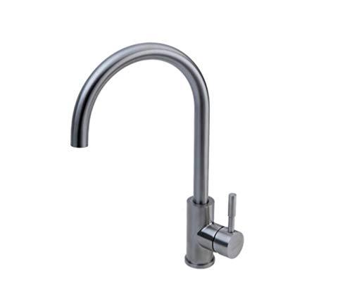 Keukengootsteen kraan voor badkamer en waterkraan van roestvrij staal waterkraan koud water en heet water kan voor één gat worden gedraaid.