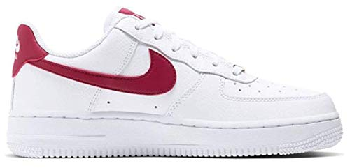 Nike WMNS AIR Force 1 '07, Chaussure de Basketball Femme, White Noble Red White, 36 EU
