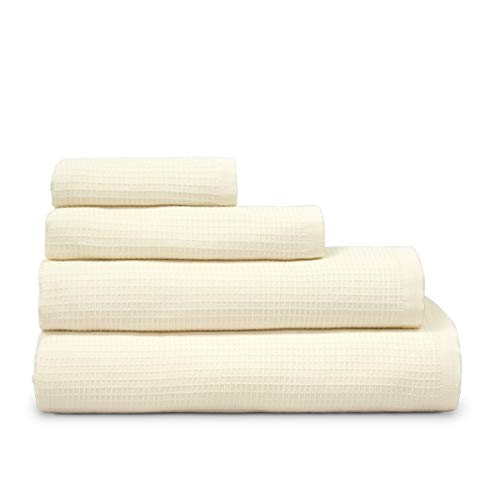 COTTON REUS Toalla Doble cara100% algodón Nido de Abeja Mod Face & Body (Crudo, Baño 100 x 150 cm)