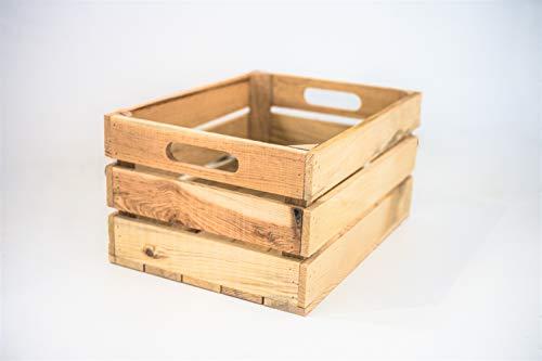 Caja 1 Unidad Almacenamiento con Asas Sam, Madera, Natural, Naturaleza, Medidas: 35x25x20cm. Incluye Regalo Imán Exclusivo Personalizable.