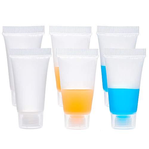 BENECREAT 30PACK 5ml Transparent Leere Nachfullbare Kunststoff Weichverpackung Rohre Flasche Mini Leere Kosmetikbehalter Fur DIY Lip Gloss Rohr, Korperlotion Kosmetik Probe Shampoo Duschgel Cleanser