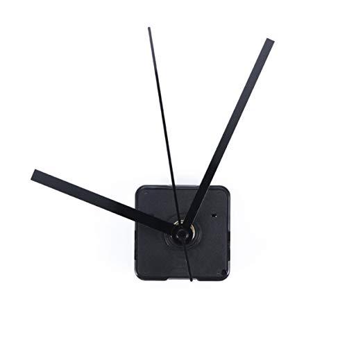 FOMIYES Kit de movimiento de reloj silencioso DIY mecanismo de cuarzo mecanismo de reparación de repuesto (mano recta negra del reloj)