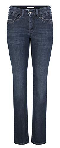 MAC Jeans Damen Angela cool Jeans, D833 Dark Blue Authentic wash, 38/32