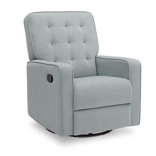 Delta Children Gavin Recliner Glider Swivel Chair Featuring LiveSmart Fabric by Culp - Stain-Resistant, Repels Moisture, Kid & Pet-Friendly Fabric, Mist