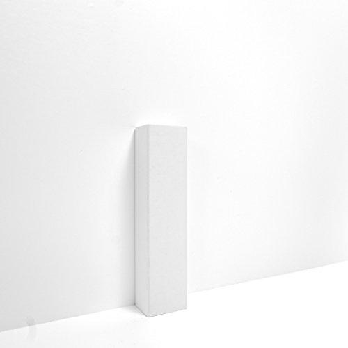 Hoco Eckstäbe, Ecktürme, Innenecken Außenecken aus Holz (lackiert) für weiße Sockelleisten, Inhalt: 15 Stück E4 (L)
