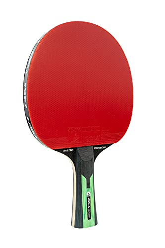 JOOLA 54205 TT Mega Carbon ITTF zugelassener Tischtennis-Schläger für Fortgeschrittene Spieler-Carbowood Technologie, 2,0 MM Schwamm