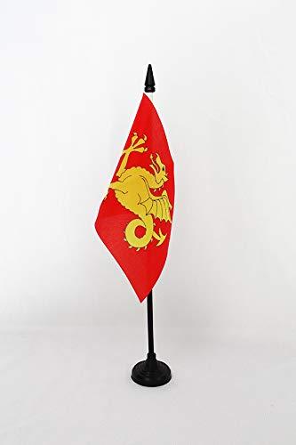 AZ FLAG Drapeau de Table Royaume Anglais du Wessex 519-927 15x10cm - Petit Drapeaux DE Bureau du Wessex - Angleterre 10 x 15 cm