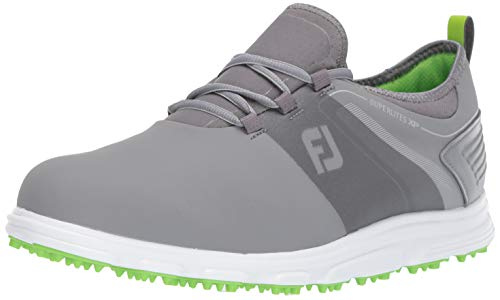 FootJoy Men's Superlites XP-Previous Season Style Golf Shoes, Grey/Lime, 9.5 M US