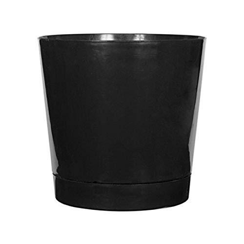 Novelty Full Depth Round Cylinder Pot, Black, 12-Inch (10128)