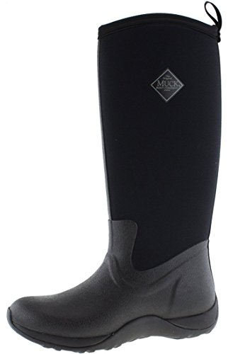 Muck Arctic Adventure Tall Rubber Women's Winter Boots, 7 M US, Black/Black