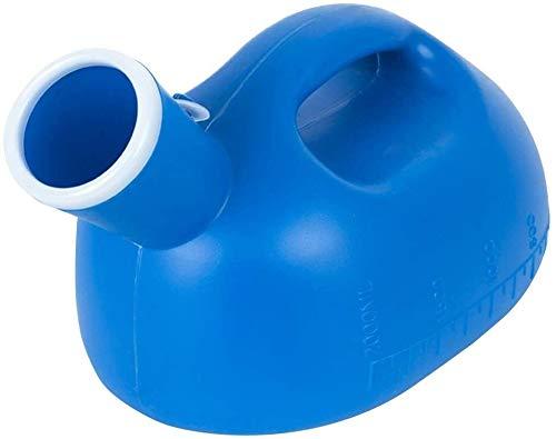 SYZHIWUJIA Pot de cámara Shell Urinario 2L Hombres portátil Urinario Desodorante Prueba de Fugas for Adultos Urinario Alquiler de Coches Viajes/Camping/Azul atención hospitalaria Urinario
