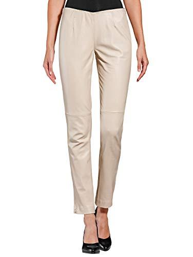 Alba Moda Lederhose aus super Softer Qualität Beige